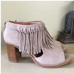SBICCA FRINGED ANKLE BOOTIES